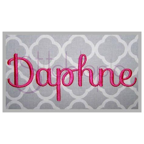 daphne embroidery font set