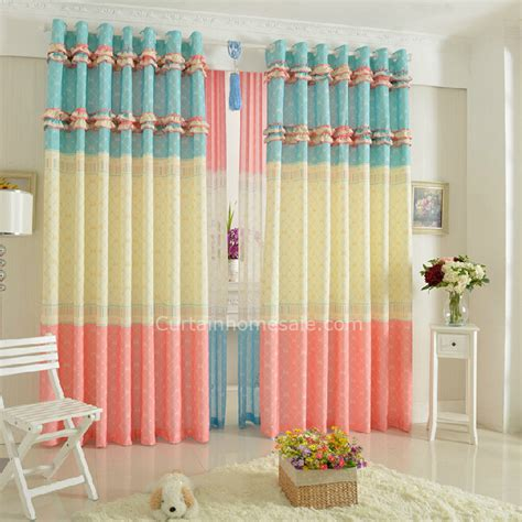 colorful geometrical patterns bedroom for baby curtains uk