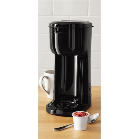 Love that you can use either grounds or kcups with this. Mainstays Single Serve K-Cup and Brew Black Coffee Maker - Google Search   Single serve coffee ...