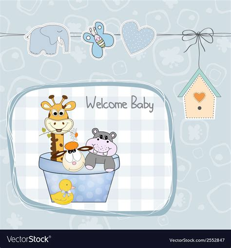 baby boy shower card  toys royalty  vector image
