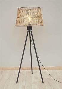 Abat Jour Lampe Sur Pied : lampe sur pied abat jour rotin chehoma ~ Nature-et-papiers.com Idées de Décoration
