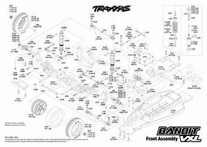 Exploded View  Traxxas Bandit 1 10 Vxl Tqi Bluetooth Ready