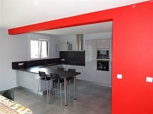 davausnet modele cuisine ouverte sur salon avec des With exemple de cuisine ouverte sur salon