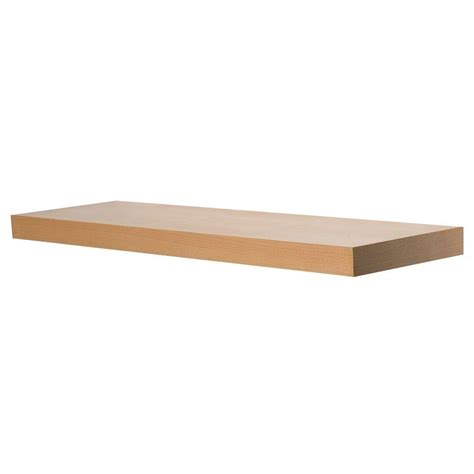 price of wood at home depot wallscapes 10 in x 1 3 4 in beech wood veneer straight floating shelf kit price varies by