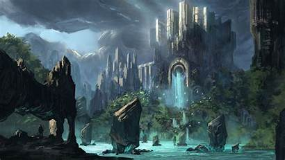 Fantasy Nature Palace Definition Wallpapers Background Desktop