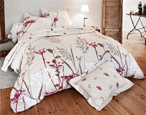 linge de lit flanelle motif ombelles becquet cr 201 ation becquet