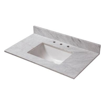 home depot bathroom sink tops home decorators collection 31 in w marble vanity top in