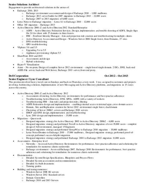 Exchange Server Migration Resume manning resume