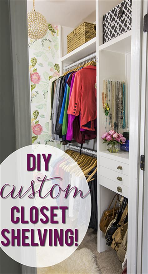 diy build your own custom closet shelving plans free