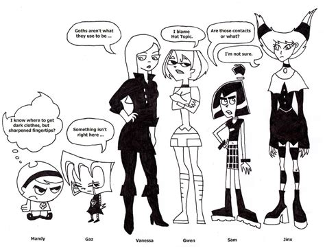 Cartoon Gothic Good Girls By Coldheartedcupid On Deviantart