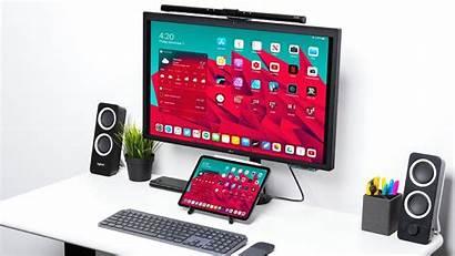 Ipad Setup Desk Monitor Mouse Connect Desktop