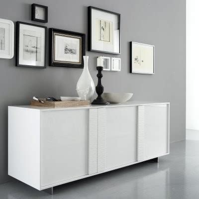 White Buffets And Sideboards by Rossetto Tween Glossy Buffet White Modern Buffets