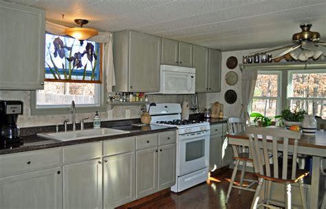 single wide mobile home diyremodel makeoversmall kitchen painted  glazed kitchen