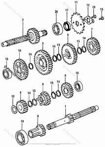 Honda Motorcycle 1976 Oem Parts Diagram For Transmission