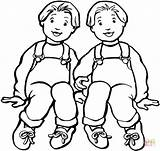 Boys Coloring Twin Twins Friends Towers Printable Supercoloring Version Clipart Tablets Ipad Compatible Android Categories sketch template
