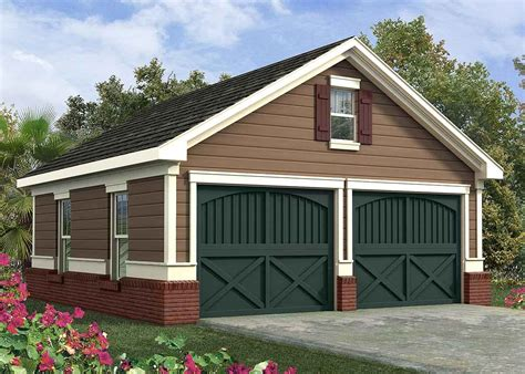 Garage Design Plans by Simple Two Car Garage 92048vs Architectural Designs