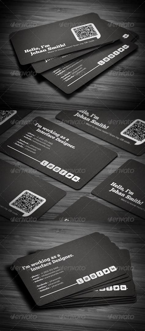 social qr code business card  images business card