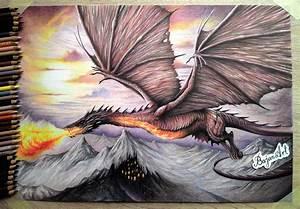 Smaug The Hobbit drawing by Bajan-Art on DeviantArt