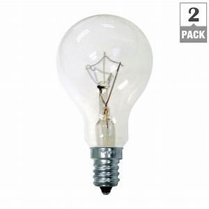 Ge watt incandescent a ceiling fan candelabra base