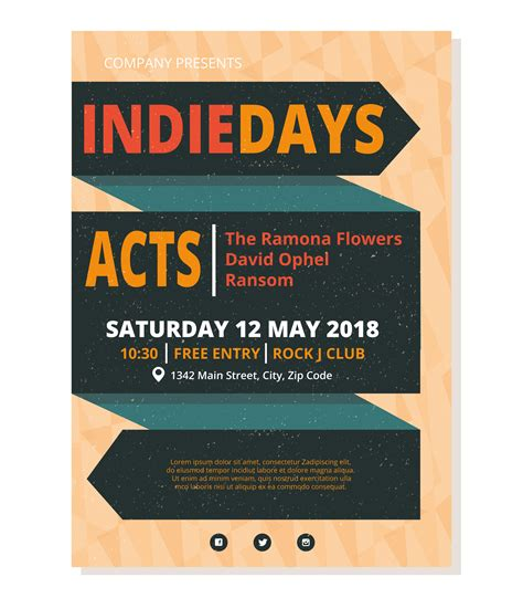 concert poster template free vector 14 free downloads