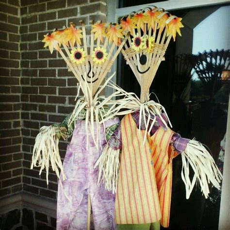 diy scarecrows pumpkin season