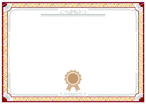 red background shading pattern border certificate design