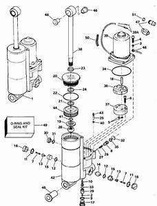 Johnson Power Tilt  U0026 Trim Parts For 1992 40hp Vj40elenj