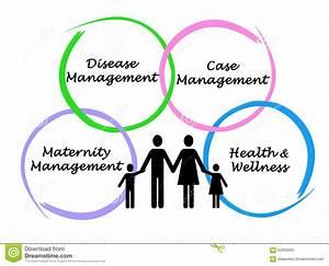 Diagram Of Health Management Solution Stock Illustration