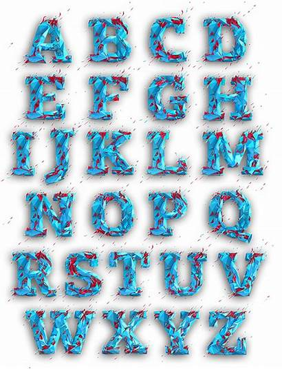 Poly Low Typography Behance