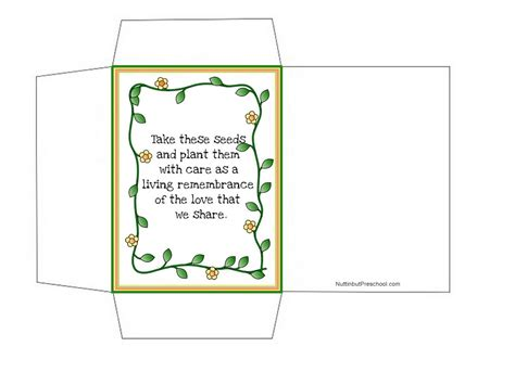seed packet template mothers day seed packet template nuttin but preschool