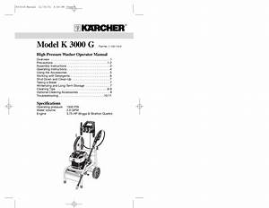 Karcher G 2600 Vh Parts Diagram