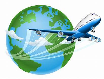 Transparent Clipart Globe Clip Airplane Flight Travel