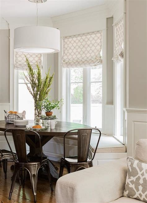 bay window breakfast nook transitional dining room