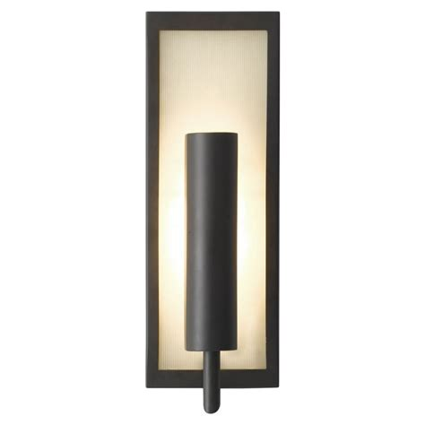 modern sconce wall light with white glass in rubbed bronze finish wb1451orb destination