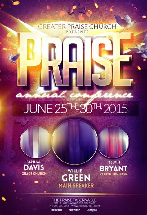 psd template praise gospel flyer nitrogfx
