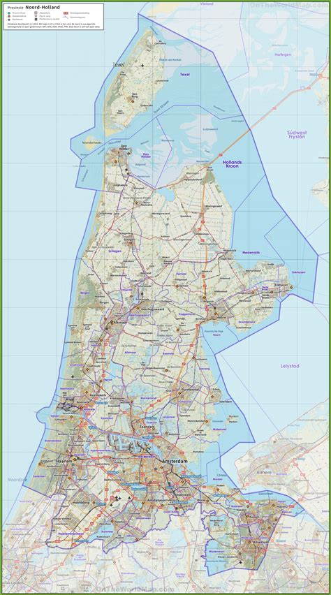 north holland road map