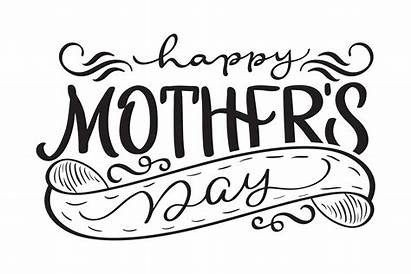 Mothers Happy Calligraphy Text Modern Vector Lettering