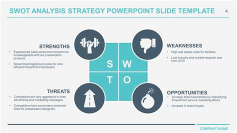 swot template ppt free business swot analysis powerpoint templates