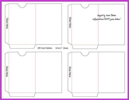 gift  credit card envelope template cup