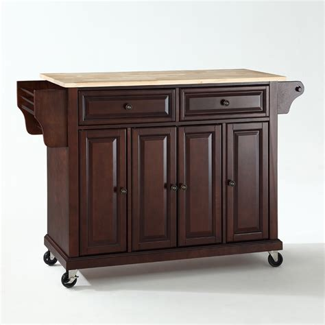 crosley furniture kitchen cart crosley furniture wood top kitchen cart island