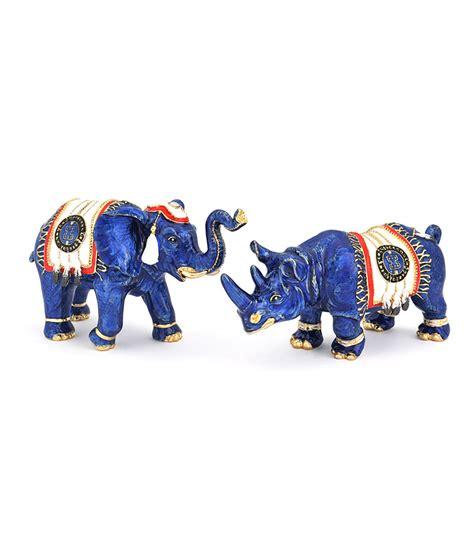 blue elephant rhino  talisman feathers  anti