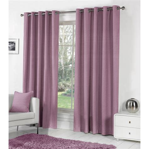 plain dyed cotton curtain pair ready made fully lined