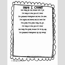 Here I Come First Grade Poem  Beginning Of School Ideas  First Grade Poems, Kindergarten Poems