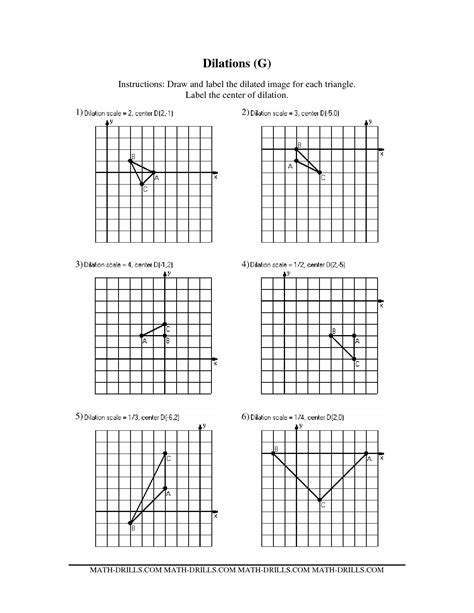 10 Best Images Of Geometric Transformations Worksheets  Geometry Rotations Worksheet