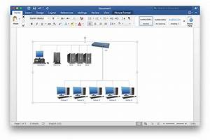 How To Add A Network Diagram To A Ms Word Document Using