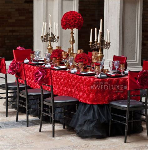 red black and gold wedding reception adult valentine