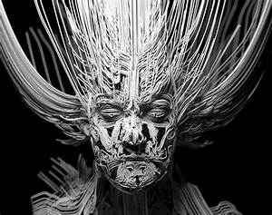 Render An Abstract Head Using Render Curves