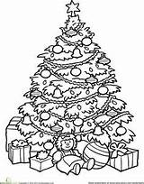 Christmas Tree Coloring Pages Printable Looking Trees sketch template