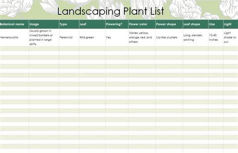 landscape plants list list  landscape plants
