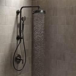 Multi Shower Head With Slide Bar by Kohler Artifacts Hydrorail Custom Shower System 2bz Oil